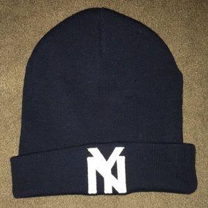 New York black Yankees hat